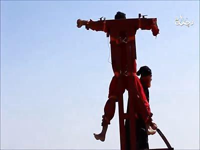 Cutting a Spy. Jesus in a Orange suit..