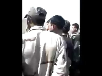 Iraqi Shiite army burn Sunni civilians in Iraq
