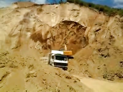 mountain collapses.