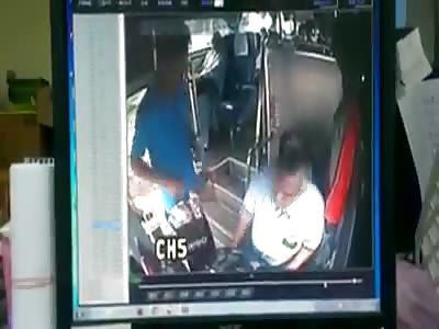 Bus driver hits annoying passenger
