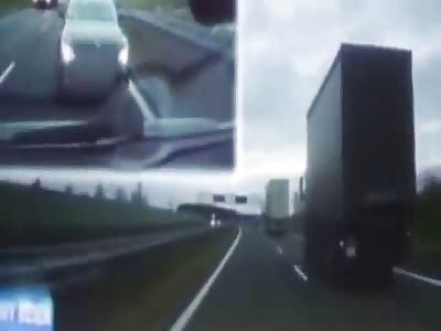 Brake checking BMW driver causes massive crash