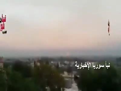 Russian- rockets launchers is raining down on terrorists Jaysh Al Fateh in --Hama-