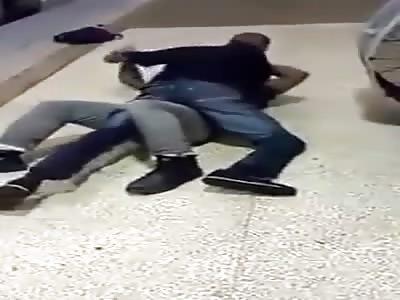 Nigger knife fight on the subway platform