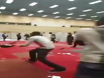African migrants destroying German housing shelter