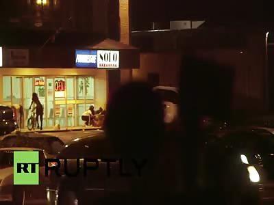 TONIGHT IN FERGUSON, MO: niggers scatter like roaches at gunshots