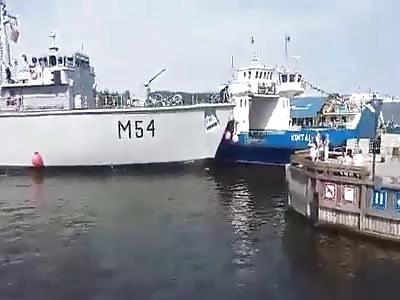 Drunken Lithuanian Navy captain crashes warship