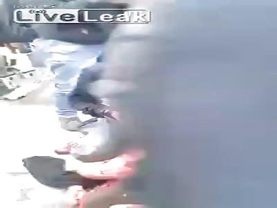 Golpiza a ladron en Bogota