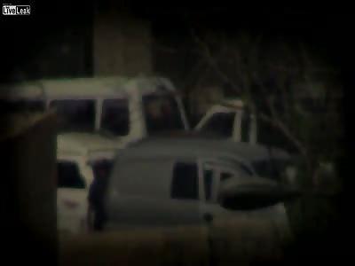 Syrian Rebels Sniper taking out Assadists, Jobar, Damascus