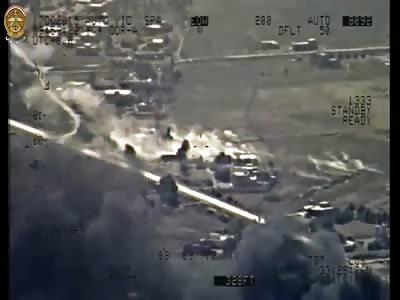 Iraqi Mi-28 Hits Enemy Positions