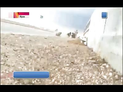 Iraq-Samarra/ISIS the terrorist has blown up on the block-post