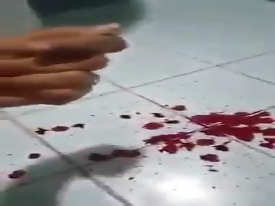 Suicidal Girl Films Wrist Cutting