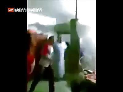 Saudi men brutally torture an Ethiopian woman