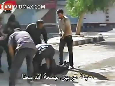 Army sniper kills a demonstrator