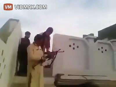 This is how people get shot at a weddings in Saudi Arabia