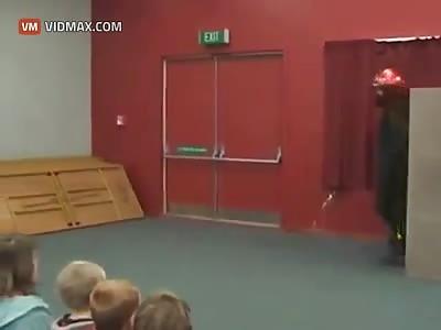 Good Samaritan play interrupted by killer stage prop