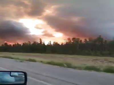 forest fire grand Prairie